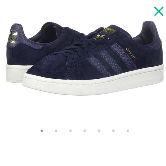 design intemporel 34a25 c89d9 NWT Adidas Campus Navy Suede with Croc & Gold